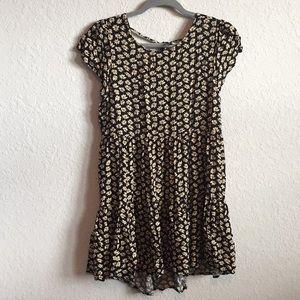 American Eagle Sunflower Babydoll Dress